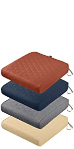 Montlake FadeSafe Quilted Patio Chair Seat Cushion