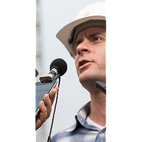 Mic for mobile journalism, Stereo mic, digital mic, mobile recording,