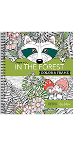forest nature coloring book for adults grown up senior teens