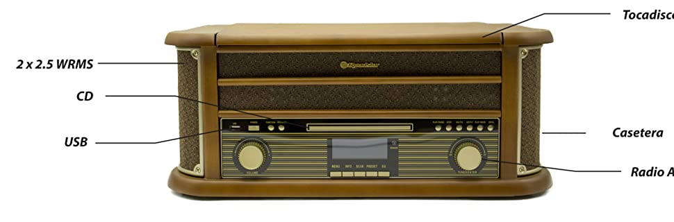 Roadstar HIF-1993 Reproductor de Vinilos 33-45-78 RPM ...