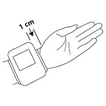 So liegt das Blutdruckmessgerät richtig an