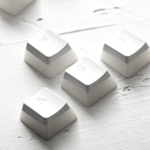 HyperX Double Shot PBT Keycaps - White