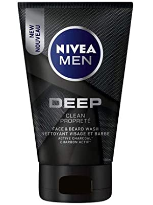 nivea men deep face and beard wash