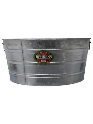 Behrens Hot Dipped Steel round tubs