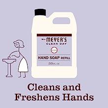 Lavender Scent, Mrs. Meyer's Hand Soap Refill, Bulk