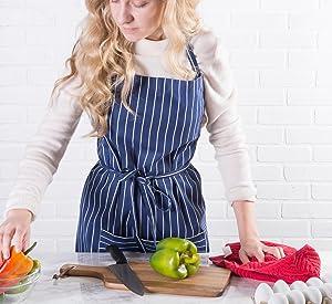 chef apron, men apron, kitchen apron, commercial apron, restaurant apron, apron with pockets