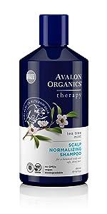 Avalon Organics Tea Tree Mint Scalp Normalizing Shampoo