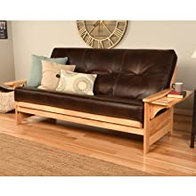 Futon, Sofa, Couch, Frame, Sleeper, Hide a Bed, Frame, Wood, Solid, Guest, Guest room, Mattress, Bed