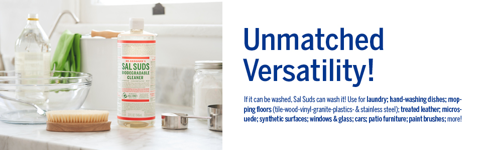 Dr. Bronner's unmatched versatility, Sal Suds