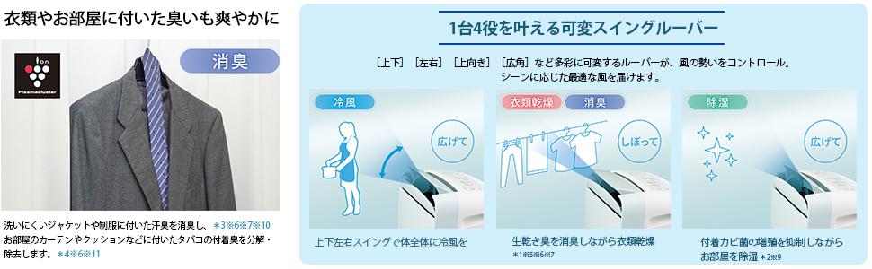 コンパクトクール プラズマクラスター 除湿 消臭 冷風 衣類乾燥 CM-J100