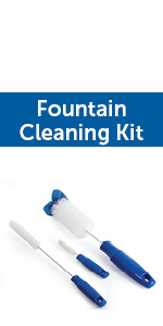clean pet fountain, pet fountain cleaner, fountain cleaner, cleaning brushes for pet fountain
