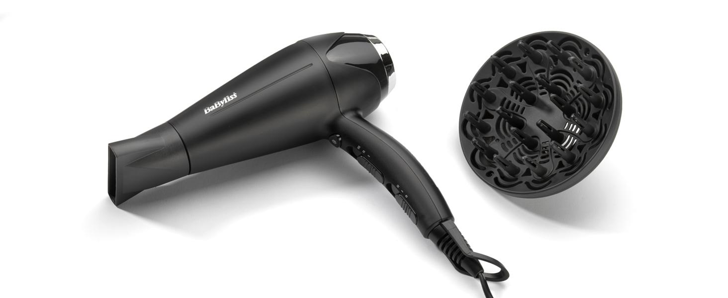 BaByliss Sèche cheveux Turbo Smooth 2200 avec Technologie Ionique et Céramique