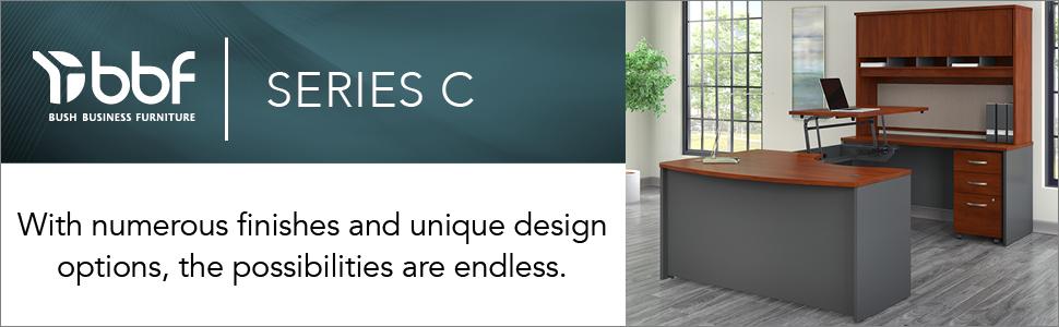 bbf,bush business furniture,series c,hansen cherry,cherry,contemporary,bush,bush industries