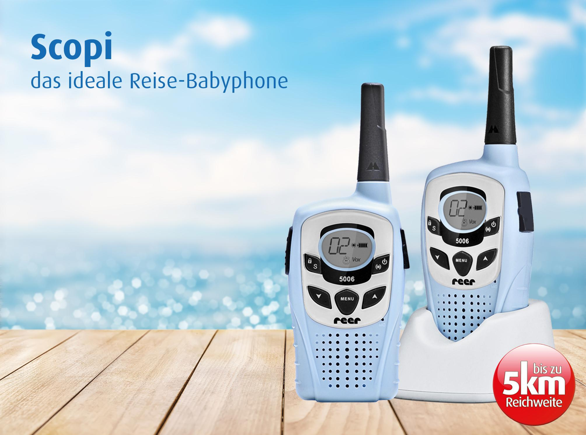 reer 5006 babyphone walkie talkie scopi 5km reichweite baby. Black Bedroom Furniture Sets. Home Design Ideas