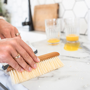 Counter Top, Squeegee, Broom, Bristles, Sweeper, Table, Kitchen, Cleaner, Bread Crumb, Brush, Duster