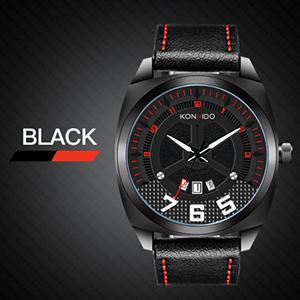 Amazon.com: konxido relojes, Big Face de piel de banda de ...