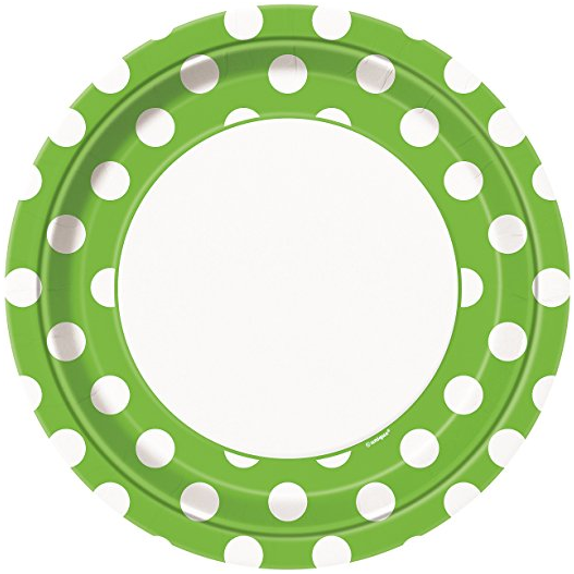 Lime Green Polka Dot Paper Plates 8ct · Lime Green Polka Dot Paper Cake Plates 8ct · Lime Green Polka Dot Paper Napkins 16ct · Lime Green Polka Dot ...  sc 1 st  Amazon.com & Amazon.com: Lime Green Polka Dot Paper Plates 8ct: Kitchen \u0026 Dining