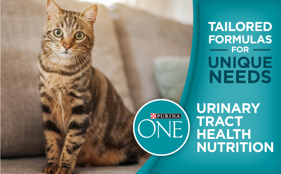 Tailored formulas for unique needs. Purina ONE cat food for urinary tract health nutrition