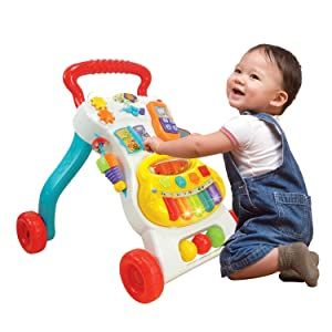 Amazon Com Winfun Grow With Me Musical Walker Toys Amp Games