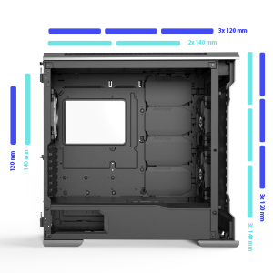 support fan cooling hub drgb