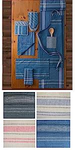 apron,dish towels,kitchen towels, tea towels,oven mitts,pot holders