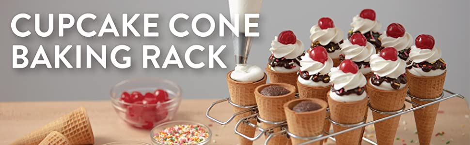 Amazon Com Wilton Cupcake Cones Baking Rack 12 Cavity
