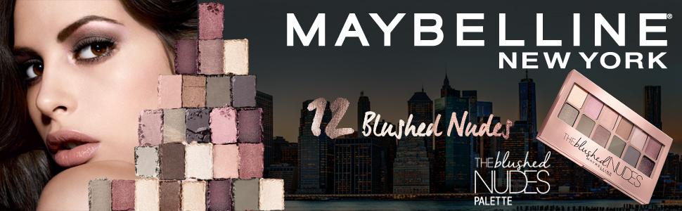 Maybelline eyeshadow palette blushed nudes, 12 shades
