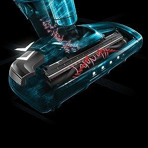 AEG CX8-2-80DB Aspiradora Escoba Sin Cable, bateria Litio HD 32.4 V, 80min autonomía, Luces LED, 0.8 litros, 82 Decibeles, Azul Denim, Decibelios, Plástico: Amazon.es: Hogar