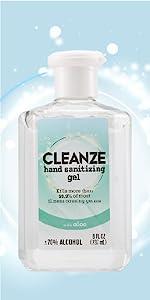 Cleanze purell sanitize hands disinfect kill virus