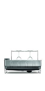 65b3b580b6dc Amazon.com - simplehuman Kitchen Steel Frame Dish Rack With Swivel Spout,  Fingerprint-Proof Stainless Steel Frame, Grey Plastic - Dish Racks