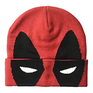 Deadpool Flip-Down Winter Hat with 6in Mesh Visor 15f80135325