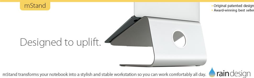 mStand, laptop stand, laptop, rain design. rain design inc, macbook, twelve south, griffin tech
