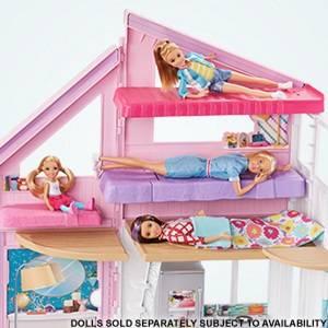 Barbie Casa Di Malibu Playset Richiudibile Su Due Piani Con Accessori 61 Cm Giocattolo Per Bambini 3 Anni Fxg57 Amazon It Giochi E Giocattoli