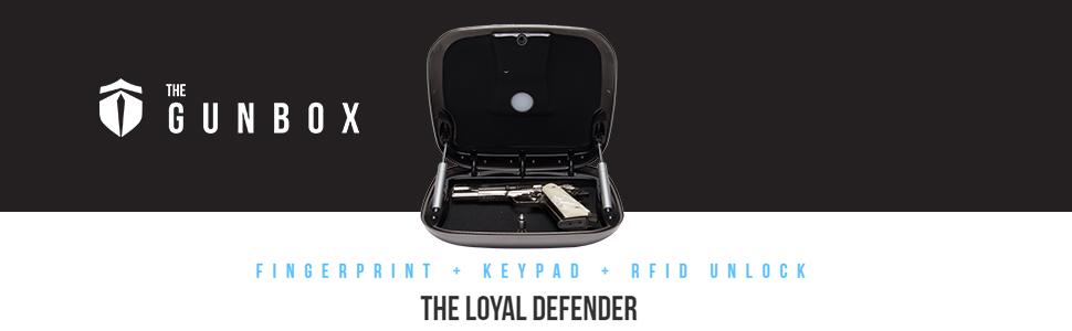 gunbox, gun safe, gun, safe, fingerprint, keypad, rfid unlock