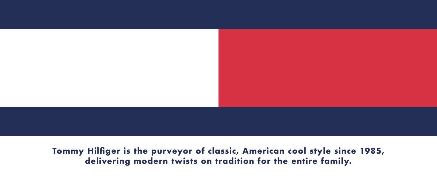 Tommy Hilfiger is a lifestyle brands, featuring preppy with a twist designs
