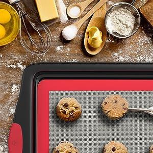 Amazon Com Vremi 3 Piece Baking Sheets Nonstick Set