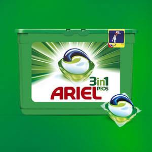 Ariel 3 in 1 Pods Vollwaschmittel, 1er Pack (1 x 35