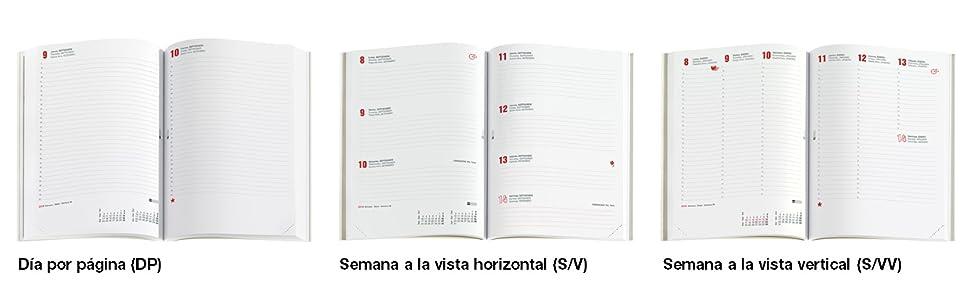 Miquelrius 34005 - Agenda 2020, Semana Vista Horizontal (155 x 213 mm), sobremesa, Urban Rojo, Castellano