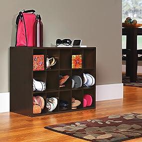 mudroom storage, entryway storage, bedroom storage, cubes for shoes