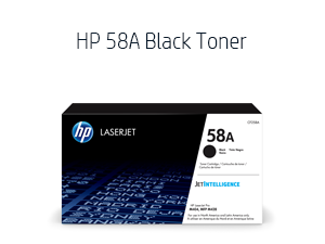 toner cartridge pages standard black 58A 58X brochure paper yield