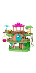 toy house treehouse playset family animal toys lil woodzeez calico critters accessories