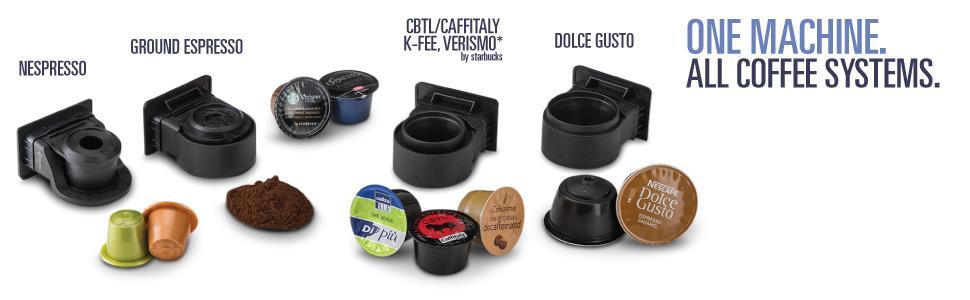 Amazon.com: Gourmia Cafetera de cápsulas de café, compatible ...