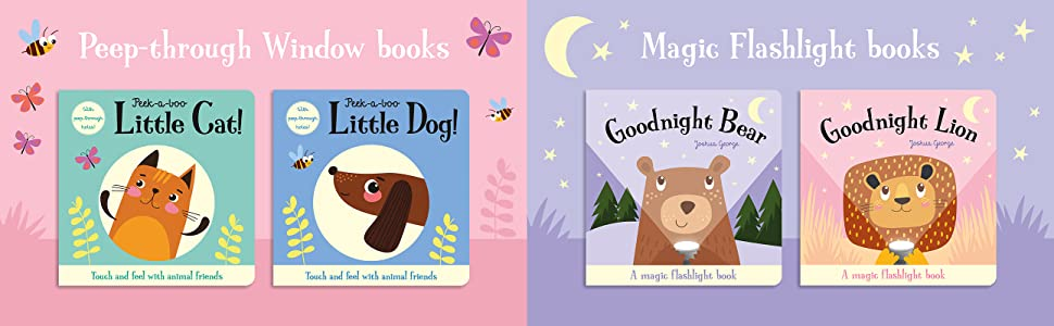 Range of Animal Friends books including Little Cat, Little Dog, Goodnight Bear and Goodnight Lion.