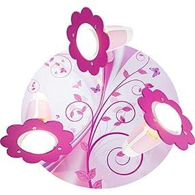 elobra kinder lampe deckenleuchte phantasie rondell kinderzimmer holz rosa 131510. Black Bedroom Furniture Sets. Home Design Ideas