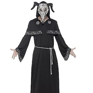 Smiffys-45570X1 Disfraz de Dama de la Magia Negra, con Vestido ...