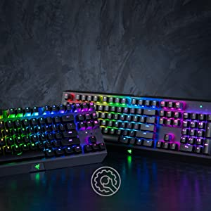 Razer BlackWidow X Tournament Edition Chroma, Clicky RGB Mechanical Gaming  Keyboard, Military Grade Metal Construction and Compact Layout - Green