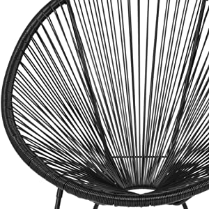 Oval Comfort Series Take Ten Black Rattan Lounge Chair