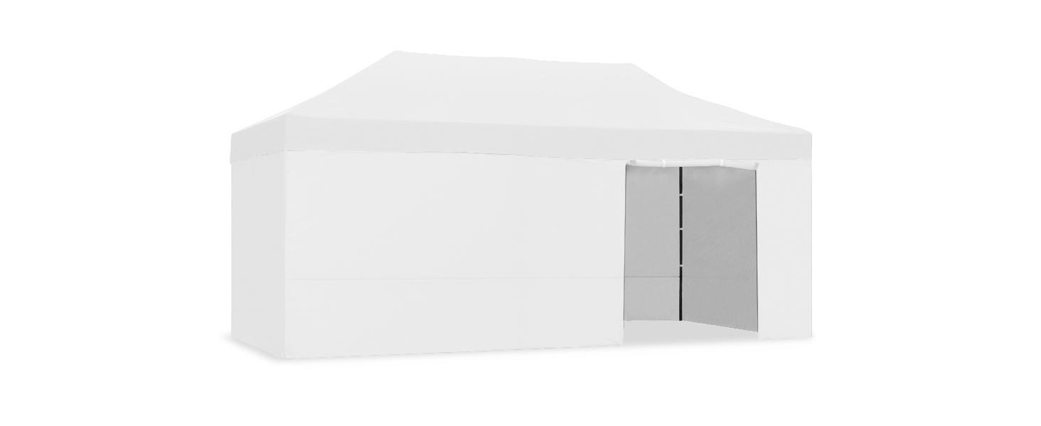 CARPLE - Carpa plegable 3x6m Impermeable Exterior, Carpa de plegado Fácil color Gris Claro para Eventos, Jardín, Fiestas al Aire Libre