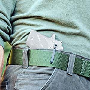 Universal Clipdraw concealed in waistband