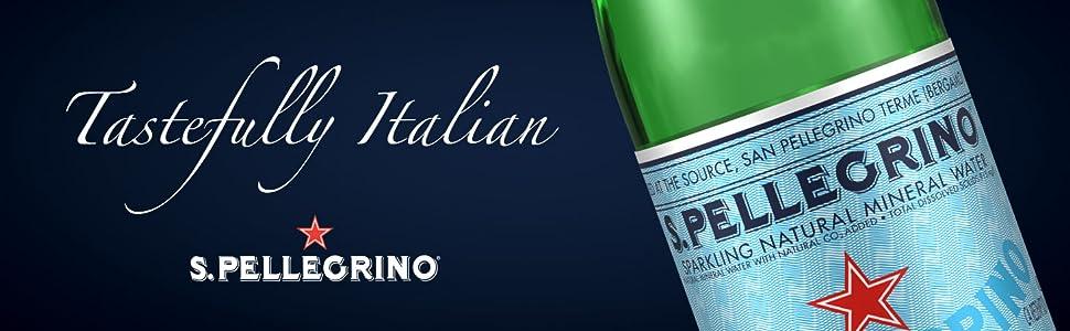 S.Pellegrino Sparkling Natural Mineral Water Tastefully Italian